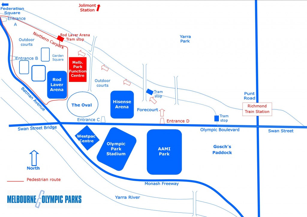 Picture of Melbourne Park Precinct Map