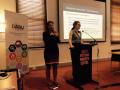 Vanessa Stevens-Downie presening on Zero Tolerance with an Interpreter